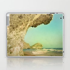 Volcanic paradise. Vintage landscape. Laptop & iPad Skin
