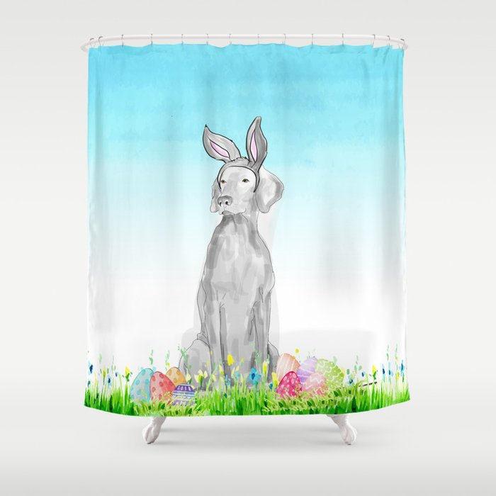 EASTER BUNNY Shower Curtain By Bluweimdesigns