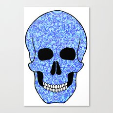 Blue Skull Canvas Print