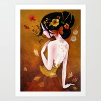 copper Art Prints featuring Copper by Sybile Art
