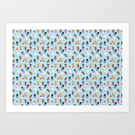Mega Ice Cream Pattern Art Print