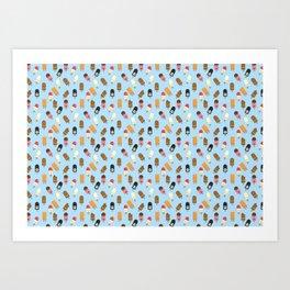 Mega Ice Cream Pattern Art Print