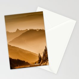 Arlberg Pass Mountain Landscape Stationery Cards