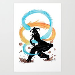 The Legend of Korra Stencil Art Print