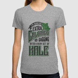 Gagging on Kale Art for Vegans Vegetarians on Diet Light T-shirt
