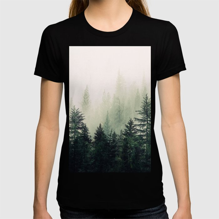 Foggy Pine Trees T-shirt