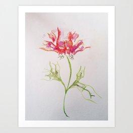 Butt Flowers Art Print