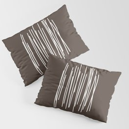 Wood in Brown - Minimalist Feng Shui - by Friztin Pillow Sham