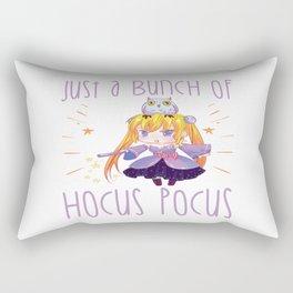 Halloween Chibi Anime Manga Otaku Hocus Pocus Rectangular Pillow