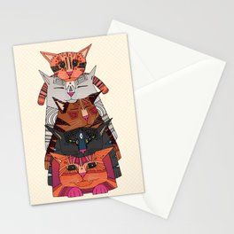 pile of cats Stationery Cards