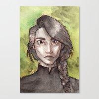 katniss Canvas Prints featuring Katniss by Sandra