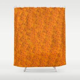 Orange Black Shower Curtains