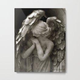 Angel Praying Metal Print