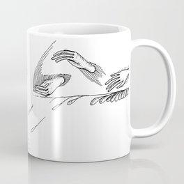 Drippy Hands and Rope Illustration Coffee Mug