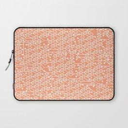 Microchip Pattern (Orange) Laptop Sleeve