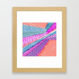 Abstract geometric pattern.Multicolored stripes Framed Art Print