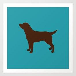 Labrador Retriever, Lab (Teal/Chocolate) Art Print
