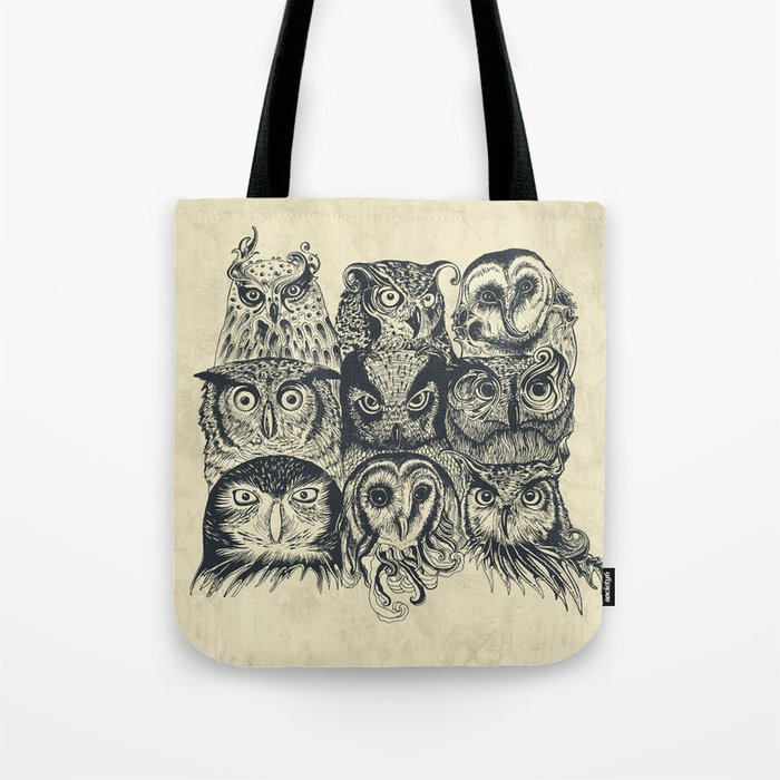 Nine Owls Tote Bag