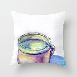 Pink Cup Throw Pillow