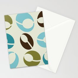 Mid-Century Modern Martini (teal) Stationery Cards
