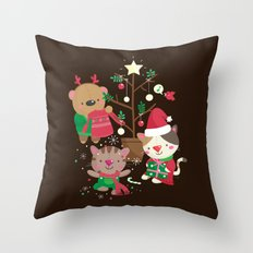Holiday Crew Throw Pillow