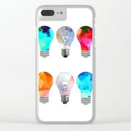 Light Bulbs Clear iPhone Case