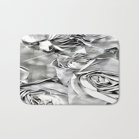 Paper Heart Roses Bath Mat