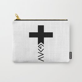 God is greater than the highs and lows Cross Carry-All Pouch