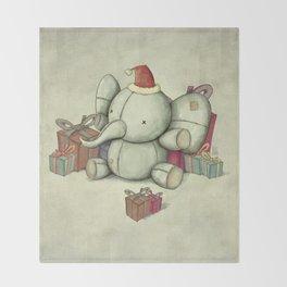 Happy Cute Elephant Throw Blanket