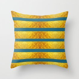 FARAOH'S MASK - GOLD & SAXONY BLUE  Throw Pillow
