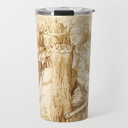 """Dante Gabriel Rossetti """"King Arthur and the Weeping Queens"""" Travel Mug"""