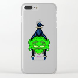 LITTLE GREEN HEAD Clear iPhone Case