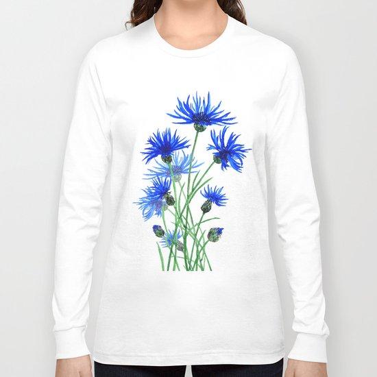 blue cornflower Long Sleeve T-shirt