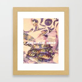 Save The Bees Framed Art Print