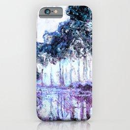 Monet : Poplars Lavender Periwinkle Deep Blue iPhone Case