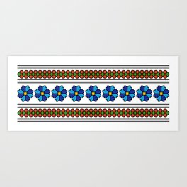 romanian popular pattern Art Print