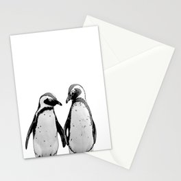 two baby penguin friends Stationery Cards