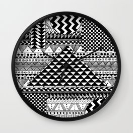 Floating Patterns Wall Clock