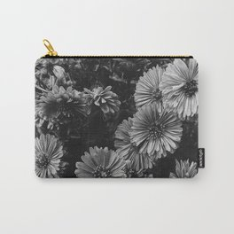 FLOWERS - FLORAL - BLACK AND WHITE Carry-All Pouch