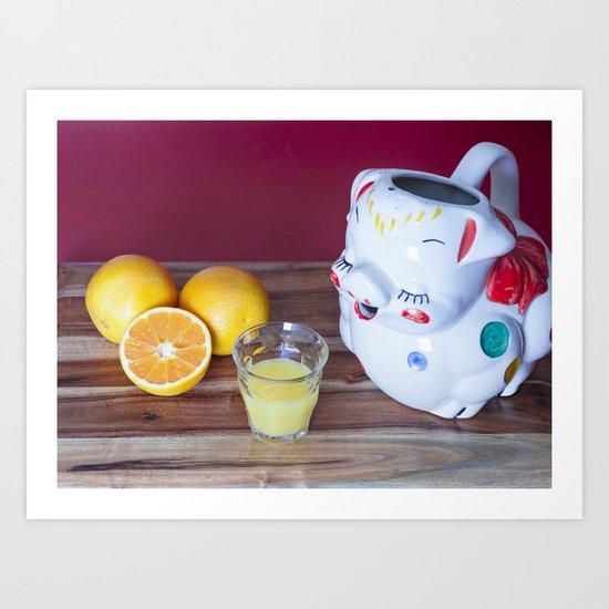 The Vintage Kitchen Still Life (Pig Juice Pitcher) Art Print