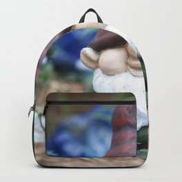 Garden Gnome With Angel Backpack