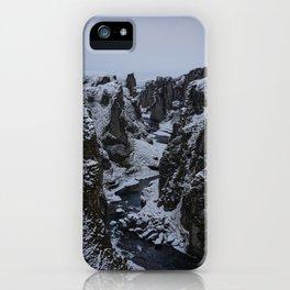 The iconic Fjaðrárgljúfur canyon in South Iceland iPhone Case