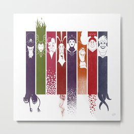 Disney Villains Metal Print