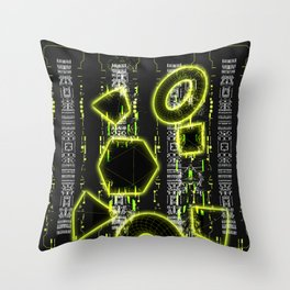 Glitch Cyberspace Interface CCRI-A1 Throw Pillow