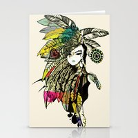 karu kara Stationery Cards featuring KARA by DON'T NEED NO SAMURAI