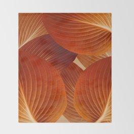 Leaves in Terracotta Color #decor #society6 #buyart Throw Blanket