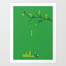 Amazon Addiction Art Print