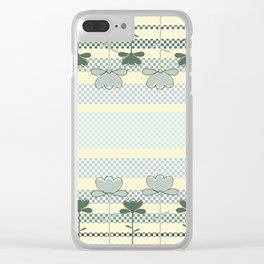 Checkered Spring Clear iPhone Case