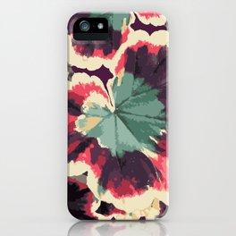 Colorful Geranium Illustrated Print iPhone Case
