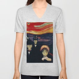 Edvard Munch - Anxiety Unisex V-Neck
